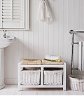 Portland bathroom seating, white bathroom furniture for storage