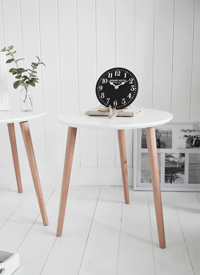 Bethel Cove simple whiteside table for coastal, country and scandi style living room  interiors