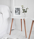 Bethel Cove white simple bedside table