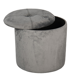 Grey Dressing table stool with storage