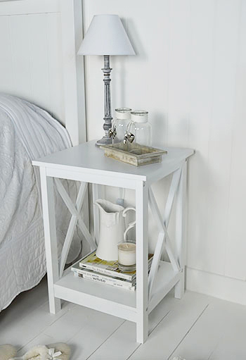 Henley White Bedside Table From The White Lighthouse