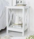 Henley White Bedside table
