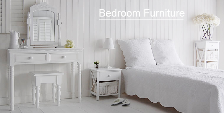 New England white bedroom furniture from The White Lighthouse