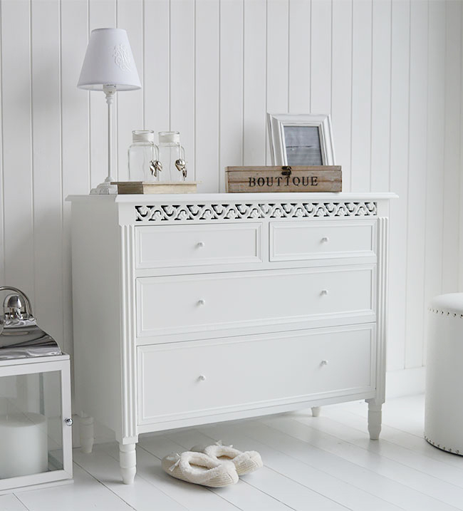 The White Lighthouse Furniture - ( New England White Chest of Drawers )