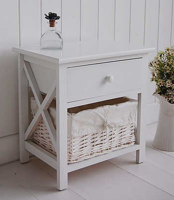 small white bedside cabinet two drawer white bedside