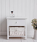 New Haven small white bedside table for white bedside furniture
