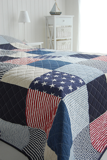 American Stars And Stripes Quilt In Single And Double