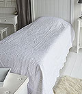 Pure White Bedding Stitched Quilt