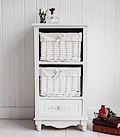 White Rose three drawer bstorage