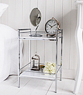White and Chrome Bedside table