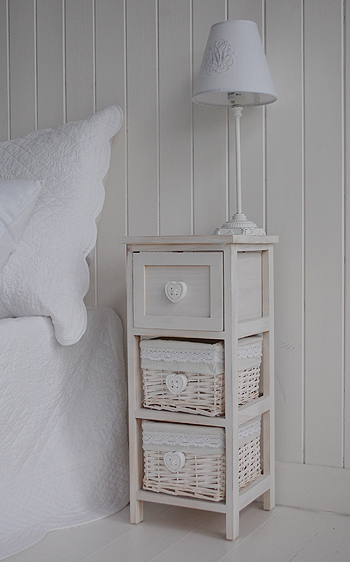 Narrow Bedside Table With Drawers 25cm Bedroom Furniture