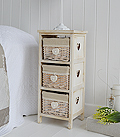 Narrow 25cm wide bedside table