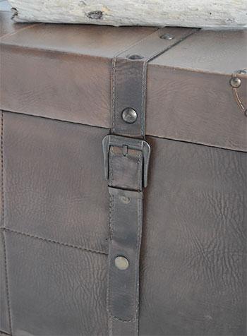 Panama vintage trunk for storage furniture