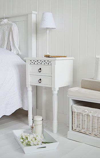 New England Bedside Tables The White Lighthouse Bedroom Furniture