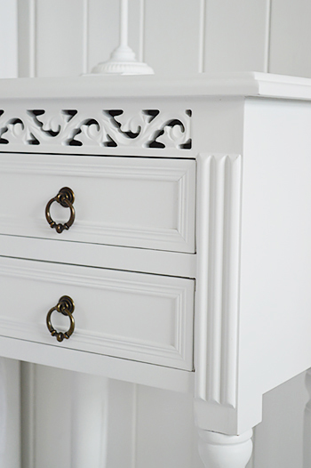 New England white bedroom furniture
