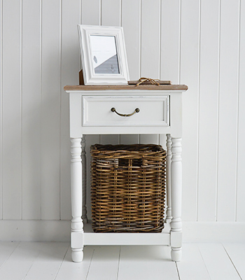 Brittany bedside lamp table