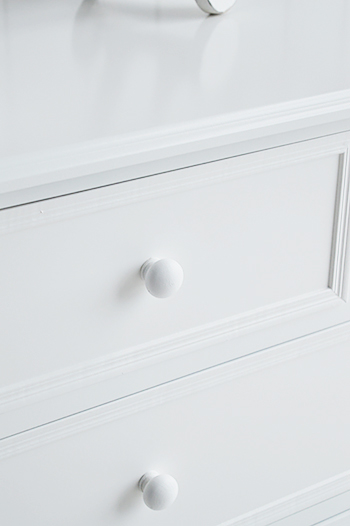 New England white chest of drawers for bedroom furniture from The White Lighthouse
