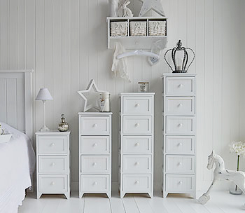 White Maine bedroom furniture storage drawers
