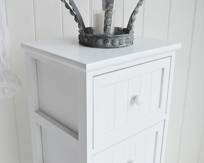 Maine White Bedroom Furniture Drawers Close photograph to shoe the New England Clapboard frontage