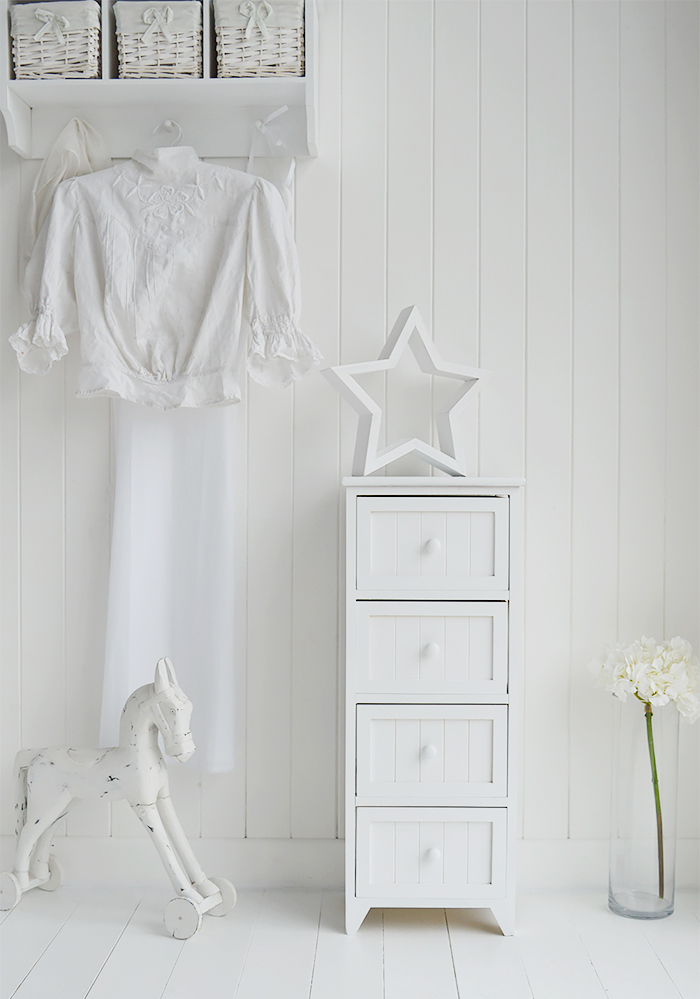 Affordable white Maine bedroom storage furniture