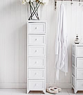 Maine white bedroom furniture5 drawer chest of drawers