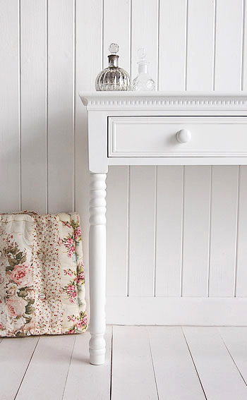 New England Ceramic knob on the white dresser