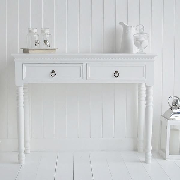 A Simple White Dressing Table New England Bedroom