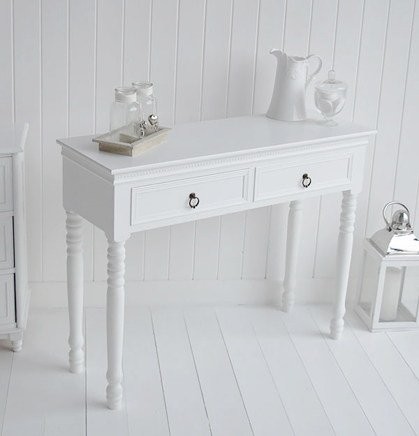 New England white dressing table for bedroom furniture
