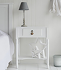Plymouth white large bedside table