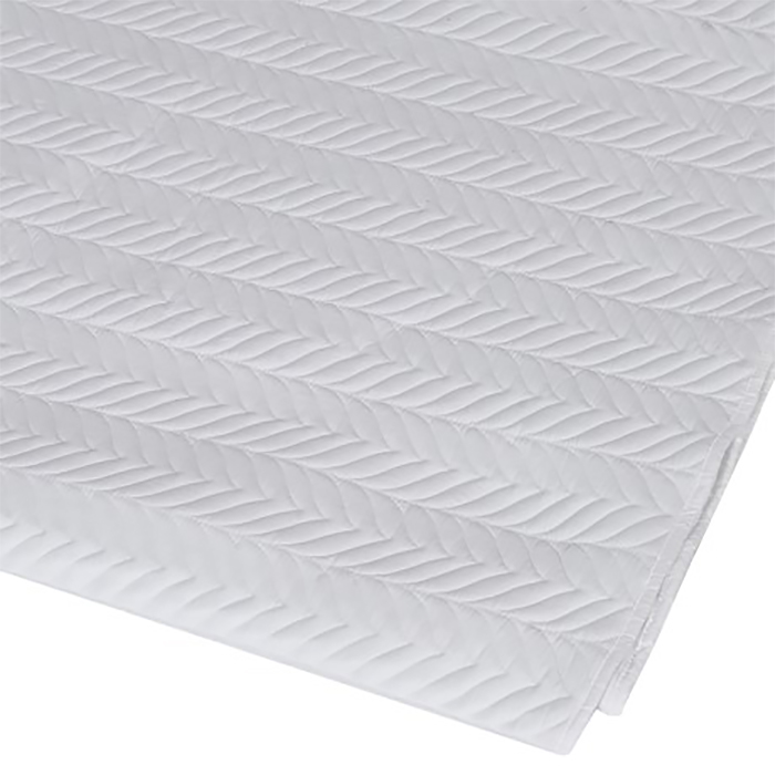 Pure white Herringbone double quilt