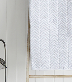 White Herringbone Quilt for New England bedrooms