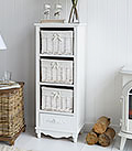 Rose Tall White storage for living room