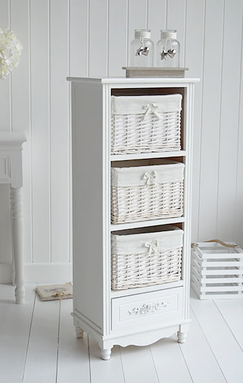 Rose white storage furniture from The White Lighthouse