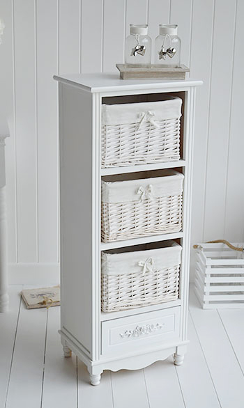 Rose white storage furniture from The White Lighthouse living room