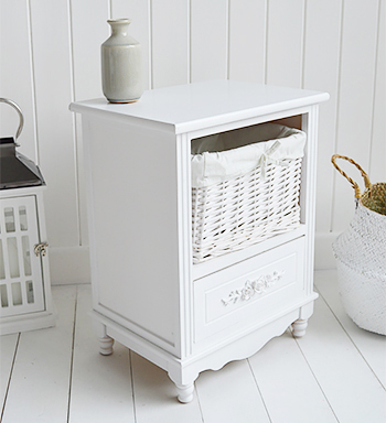 White Rose bedroom furniture with baskets