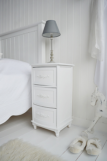White Rose Lamp Table Bedside Table The White Lighthouse