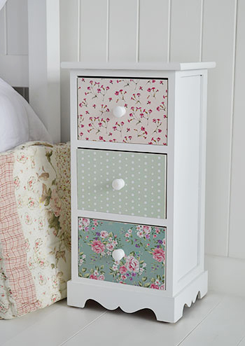 Rosewood White And Pink Floral Narrow Country Cottage