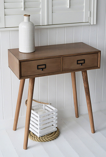 Small Scandinavian dressing table with two drawers