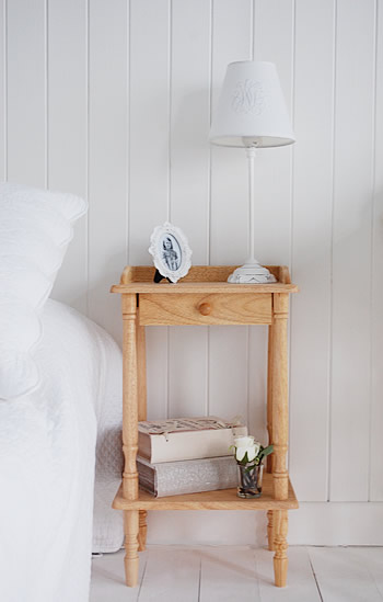 Bedroom Bedside Table: The White Lighthouse Bedroom