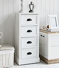 Southport white tall narrow chest drawers cabinet furniture