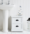 Southport white small 2 drawer bathroom cabinet