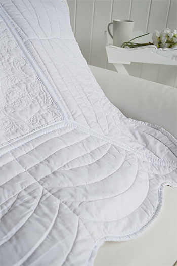 White Quilt For A Throw Or Bedding