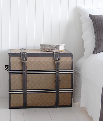 Storage trunk as a bedside table