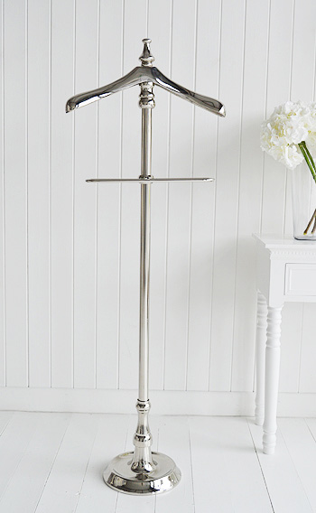 Kensington silver clothes valet stand