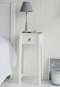White Bedside Table Plymouth large - White Bedroom Furniture