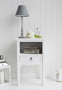 The Cove Bay white bedside table