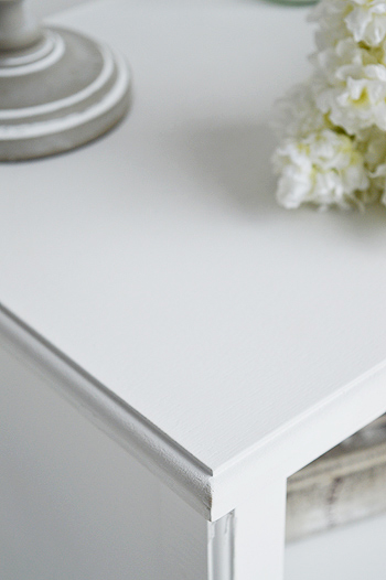 Cove Bay White Bedside Table Beach Bedroom Furniture