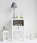 White Cove bay bedside table with drawer and shelf