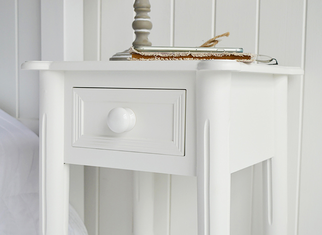 White chunky knob habdle on the drawer