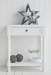 Cove Bay large white Beach House bedside table